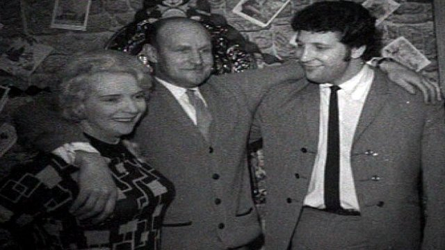 Tom Jones at home with his parents, Christmas 1966