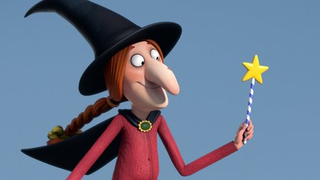 "Donaldson said the witch was based on her own ""scatty"" character"