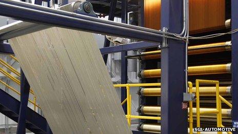 Polyacrylic yarn going through a process of oxidation
