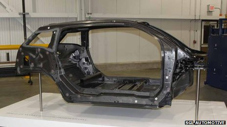 BMW i3 cabin made from carbon fibre reinforced plastic