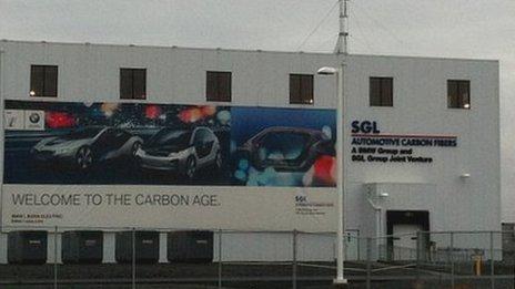 SGL Automotive carbon fibre plant in Moses Lake, Washington