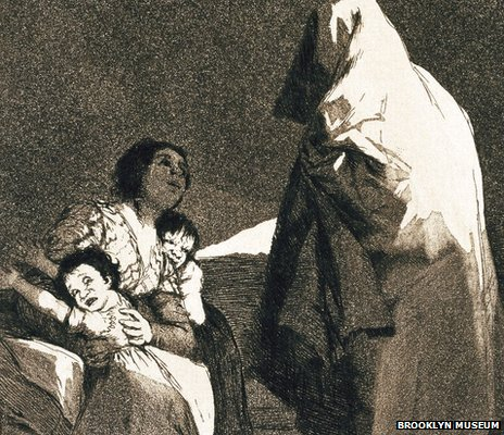 Here comes the bogeyman (Que viene el coco) by Francisco Goya