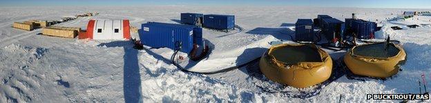 Drilling camp panorama