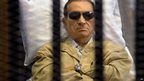 Egypt's former President Hosni Mubarak listening to the verdict at his trial in Cairo, Egypt - 2 June 2012