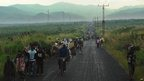 People fleeing with their belonging from Sake in eastern Democratic Republic of Congo - 23 November 2012