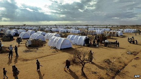 Dadaab refugee complex in Kenya