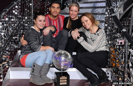 Dani Harmer, Louis Smith, Denise Van Outen and Kimberley Walsh