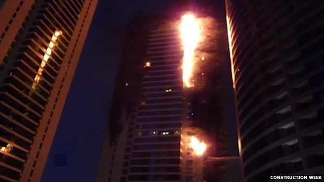 Dubai tower block fire