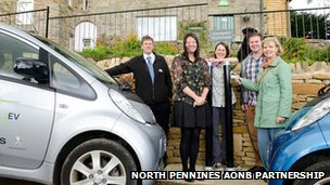 Staff from the North Pennines AONB Partnership