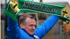 Michael O&#039;Neill is announced as the the manager of Northern Ireland at Windsor Park 
