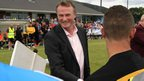 NI boss O&#039;Neill greeted players at the Milk Cup tournament after performing the opening ceremony at the international youth tournament