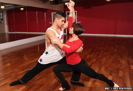 Louis Smith and Flavia Cacace in rehearsals