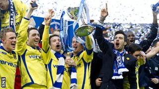 Kilmarnock celebrate League Cup success in March