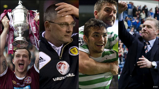 Hearts won the Scottish Cup, Craig Levein lost his job, Celtic beat Barcelona and Rangers started life in Division Three