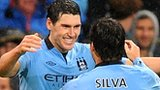 Gareth Barry and Savid Silva