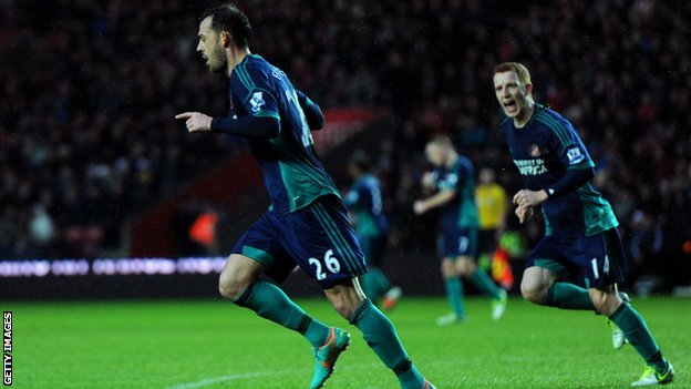 Steven Fletcher celebrates scoring for Sunderland
