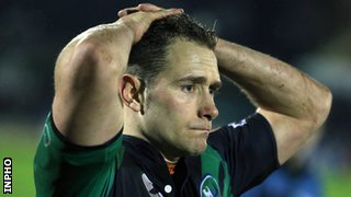 Dan Parks shows his dejection after Connacht's defeat