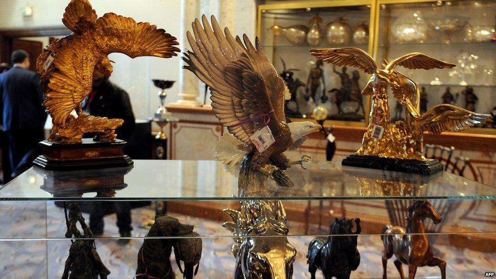 Auction of former Tunisian President Bin Ali's belongings in Gammarth, Tunis, on 22/12/12