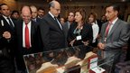 Tunisian PM Hamadi Jebali (centre) at the auction in Gammarth, Tunis, on 22/12/12