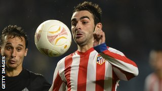 Athletico Madrid striker Adrian Lopez