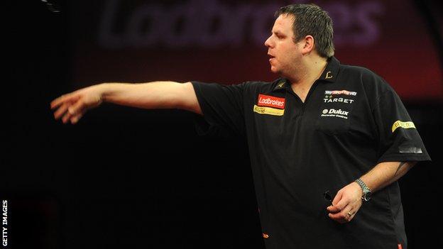 English darts player Adrian Lewis