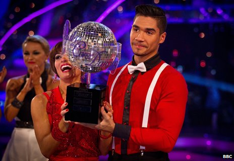 Louis Smith lifts the trophy