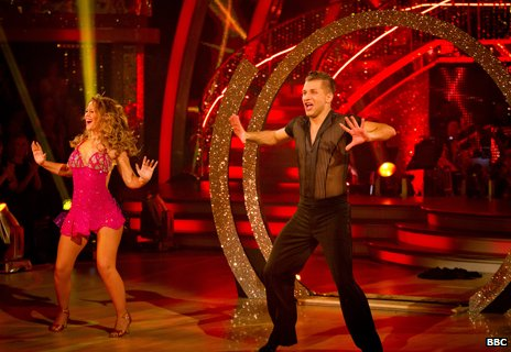 Kimberley Walsh performs her showdance