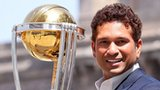 Sachin Tendulkar with the 2011 World Cup