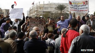 Protesters opposing Egyptian President Mohammed Morsi at Tahrir Square in Cairo (21 December 2012)