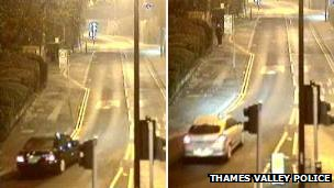 CCTV images of cars being sught by police