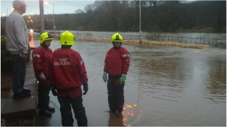 The Angus town of Brechin has been hit by floods overnight