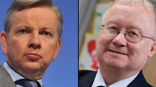 Michael Gove and Leighton Andrews