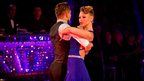Kimberley Walsh dances the tango