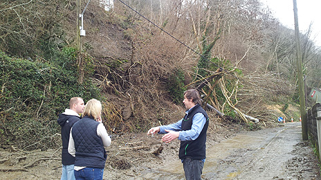 The landslide in Ystalyfera, which led to 11 homes being evacuated