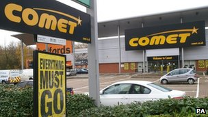 Comet store in Hendon, north London