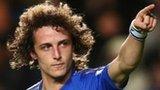 David Luiz celebrates scoring for Chelsea