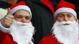 Southampton fans getting into the Christmas spirit