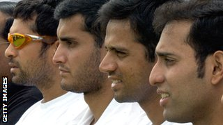 Sachin Tendulkar, Sourav Ganguly, Rahul Dravid and VVS Laxman