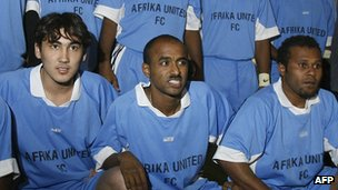 Afrika United football players