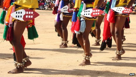 Women in traditional regalia in Swaziland (15 July 2011)