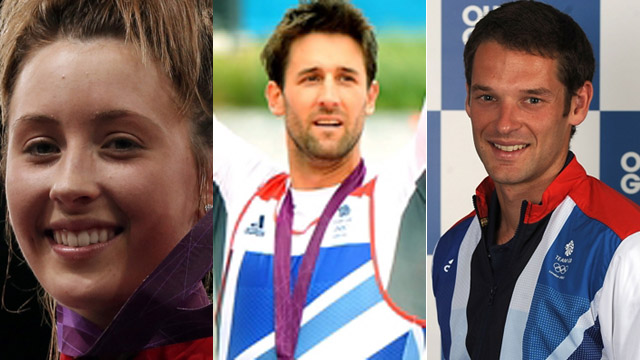 Jade Jones, Tom James, and Chris Bartley