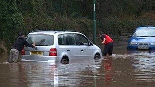 Flooding in Bestwood Village