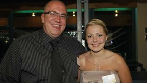 Shauni O'Neill with her father Phelim O'Neill