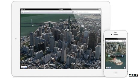 Apple iOS maps