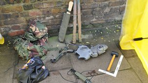 Weapons seized by police