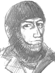 An artist&#039;s impression of the Lymington and Brockenhurst armed robber
