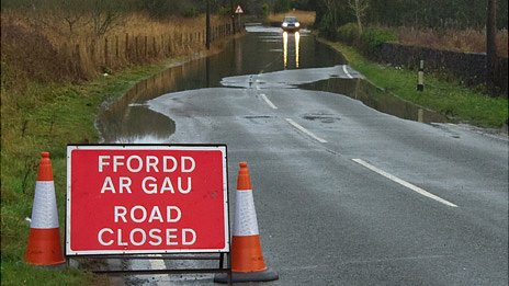 The A4318 road was closed between Gumfreston and Tenby in Pembrokeshire