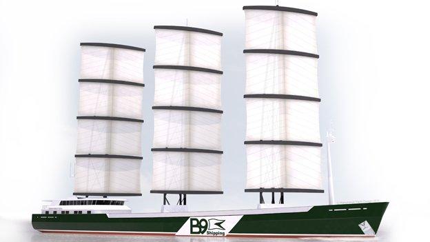 B9 hybrid cargo ship
