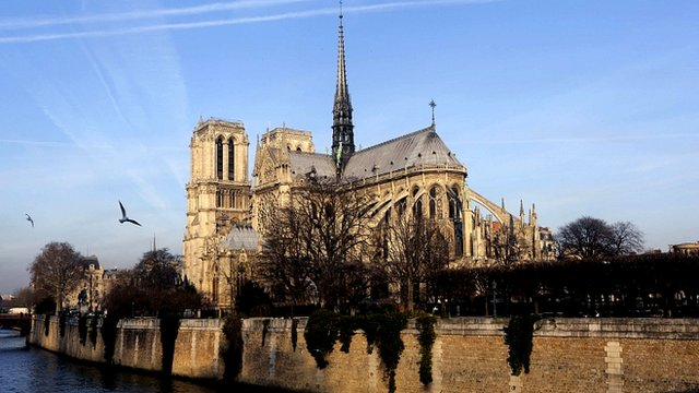 Paris Notre Dame cathedral 