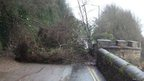 Landslip at Hannafore Road, Looe, Cornwall